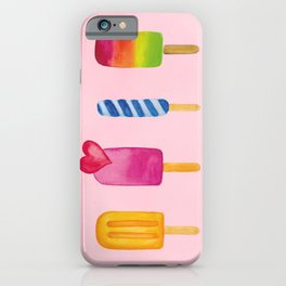 Popsicle - Ice Lolly - Ice Cream - Watercolor iPhone Case