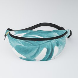 Monstera Leaves Summer Vibes Pattern #2 #tropical #decor #art #society6 Fanny Pack