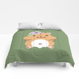 Hamster and Flower Comforters