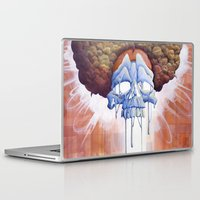hippy Laptop & iPad Skins featuring Drippy Hippy by Brian DeYoung Illustration