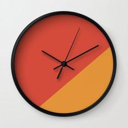 Warm Red & Orange - oblique Wall Clock