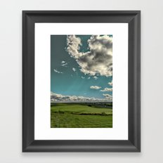Summer sky's in the heartland Framed Art Print