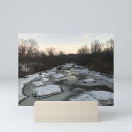 """Lake Erie Ice"" Photography by Willowcatdesigns Mini Art Print"