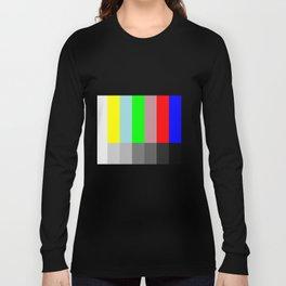 Color vs Grayscale TV Testing Long Sleeve T-shirt