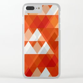 Modern Abstract Geometric Clear iPhone Case