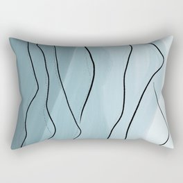 Misty Blue Mountains Rectangular Pillow