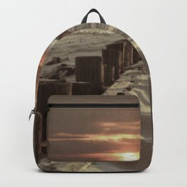Fort Tilden Beach NYC sunset Backpack