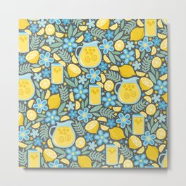 Evening Glass of Lemonade Metal Print
