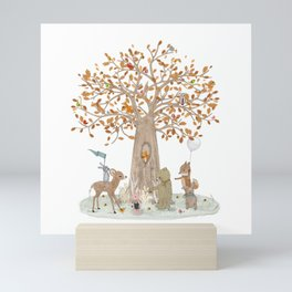 the little oak tree Mini Art Print