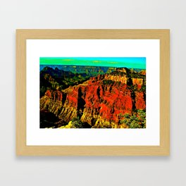Layers of time Framed Art Print