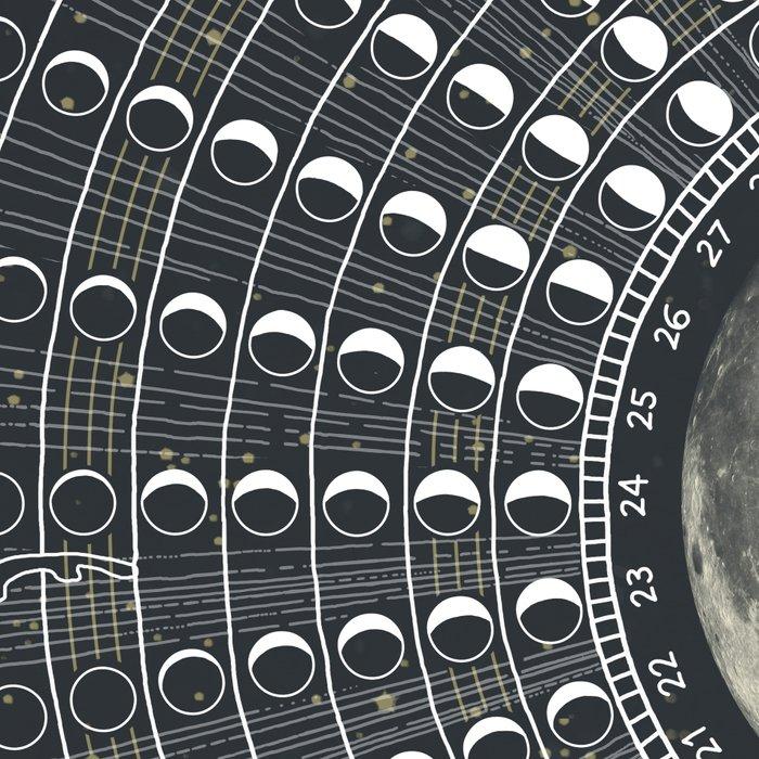 Phases // Moon Calendar 2017 Leggings