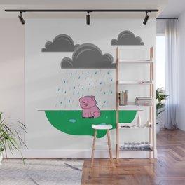 Sad Pig Wall Mural