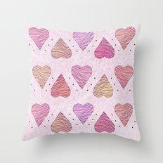 Hearts, love Throw Pillow