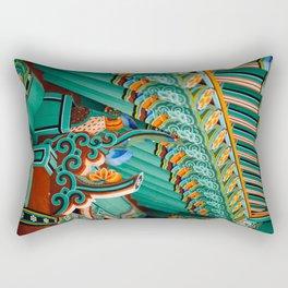 Hwaeomsa Temple Decorative Roof Rectangular Pillow