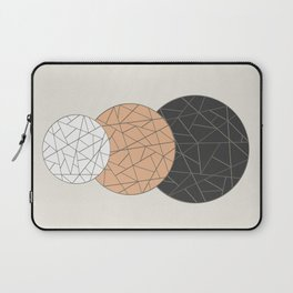 TRIAD ON BEIGE (abstract circles) Laptop Sleeve