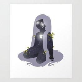 Space Girl 11 Art Print