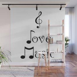 I Love Music Wall Mural