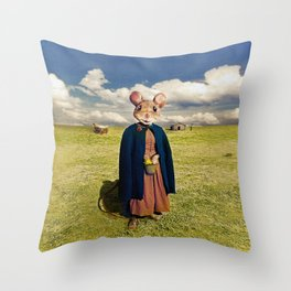 Little Mouse on the Prairie Throw Pillow