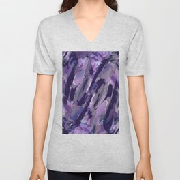 Thunder Plum Abstract Unisex V-Neck