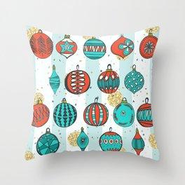 Bright MidCentury Christmas 1.0 Throw Pillow