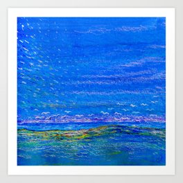 Blue landscape I Art Print