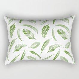 Leaf Pattern - Green Rectangular Pillow