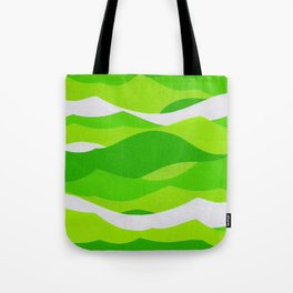 Waves - Lime Green Tote Bag