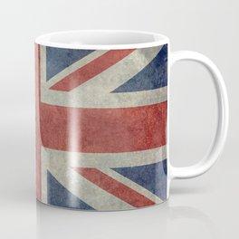 UK Flag, Dark grunge 1:2 scale Coffee Mug