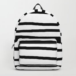 Simply Drawn Stripes in Midnight Black Backpack