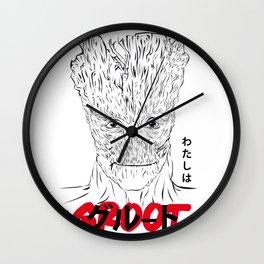 Watashi wa Gurūto desu.  Wall Clock