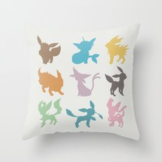 Eeveelution Throw Pillow