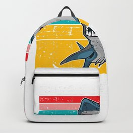 Womens Mens Sorry I Cant Its Week Vintage Shark Style Art T-Shirt Backpack