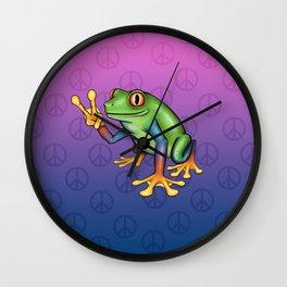 Peace Frog Wall Clock