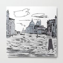 Venice . city on the water . artwork Metal Print