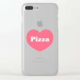 Heart Pizza Clear iPhone Case