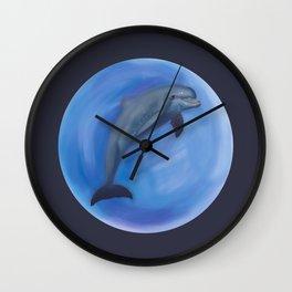 Jumpin dolphin Wall Clock