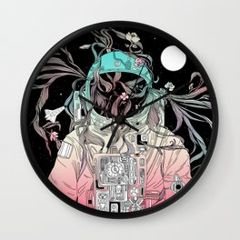Life is Invading My Space Wall Clock