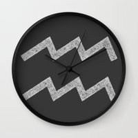 aquarius Wall Clocks featuring Aquarius by David Zydd