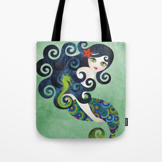 Aquamarine Mermaid Tote Bag