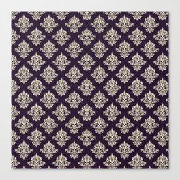 Purple Vintage Skull Pattern Canvas Print