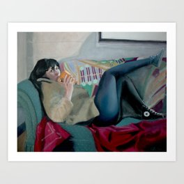 Coffee and Seduction Art Print