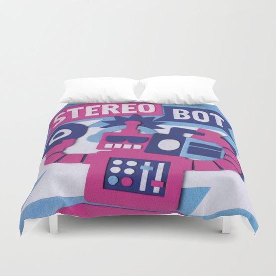 Stereo Bot Duvet Cover