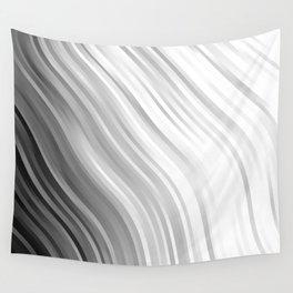 stripes wave pattern 1 bwbfv Wall Tapestry