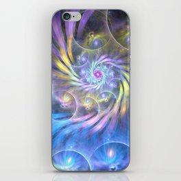 fractal: spiralling soul iPhone Skin