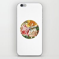 panic at the disco iPhone & iPod Skins featuring Panic! at the disco round vintage flowers by Van de nacht