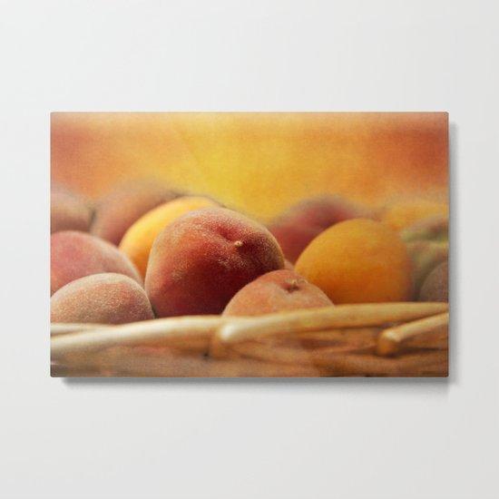 Fuzzy Peach Metal Print