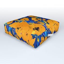 Wild Poppies — Orange Outdoor Floor Cushion