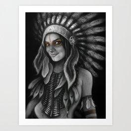 Tribe Girl Art Print