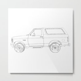 Bronco drawing Metal Print