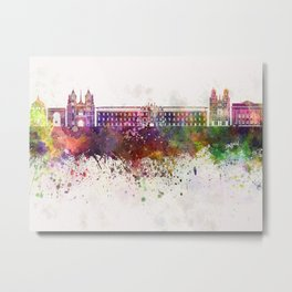 Dijon skyline in watercolor background Metal Print